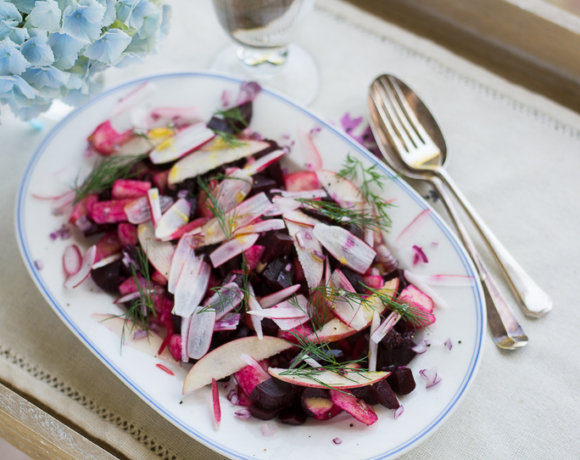 A Polish-Inspired Beetroot Salad with Apples, Radish and Dill