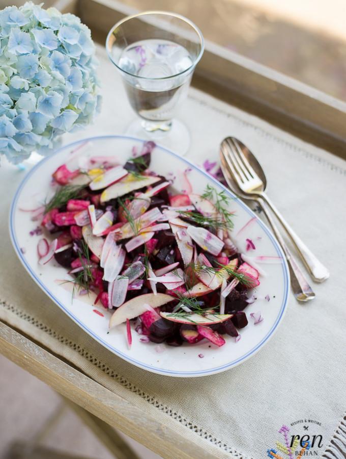 Polish Beetroot Summer Salad