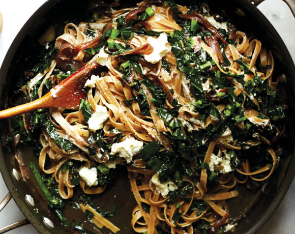 Wholewheat Fettuccine with Kale by Amy Chaplin