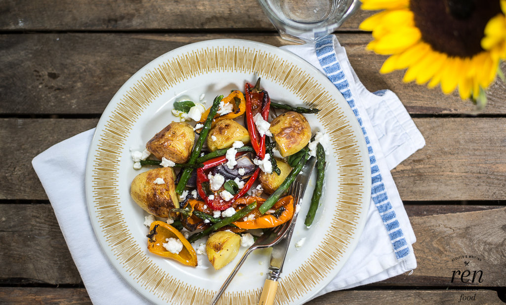 Roasted Summer Vegetables with British Goat's Cheese #TasteOfSummer ...