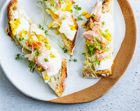 Salmon, Egg and Cress Sourdough Toasts