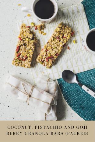 Recipe: Coconut, Pistachio and Goji Berry Granola Bars {Packed}