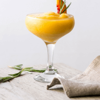 Vitamix Frozen Peach and Rosemary Margarita {Great British Chefs}