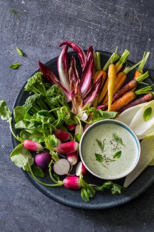 Vitamix feta and yoghurt dip {Great British Chefs}