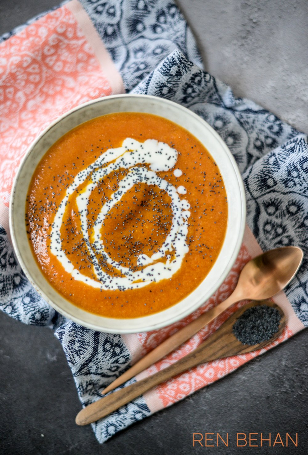 Recipe: Pumpkin Soup with Kefir and Poppy Seeds