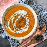 Pumpkin (or Butternut) Soup with Kefir and Poppy Seeds